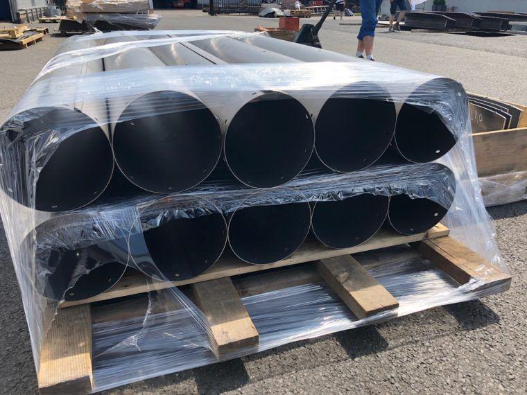 Walcowanie Aluminium, Walcowanie blach - Rury na wysyłkę
